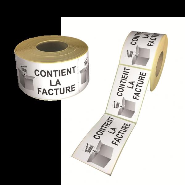 étiquettes contient la facture