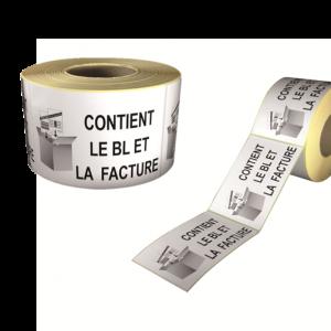 étiquettes contient le bl et la facture