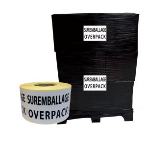 étiquettes suremballage overpack