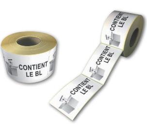 Étiquettes «contient le BL» adhésives pour colis
