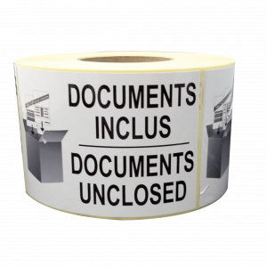 Étiquettes documents inclus documents inclosed