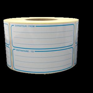 étiquettes expéditeur from - destinataire to