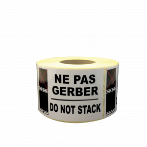 étiquettes ne pas gerber do not stack
