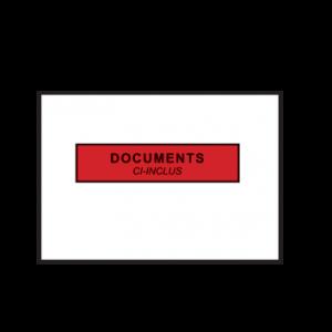 Pochettes adhésives porte-documents 162x120 mm