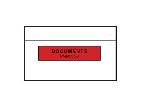 Pochettes adhésives porte-documents 228x120 mm