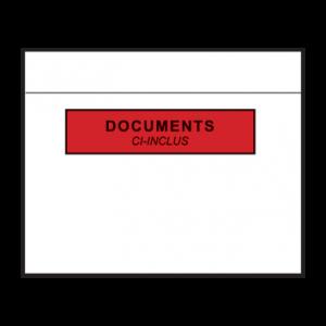 Pochettes adhésives porte-documents 228x165 mm