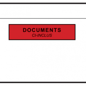 Pochettes adhésives porte-documents 320x250 mm